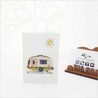 Gift Card with embellishment: Caravan Adventure