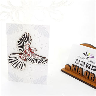 Gift Card with embellishment: KWW Fantail