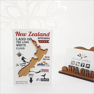 Gift Card with embellishment: NZ Adventure