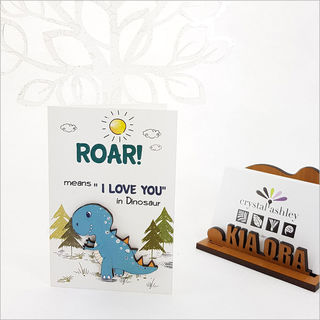 Gift Card with embellishment: Roar