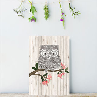 Plywood Rectangle: LW Morepork (Small)