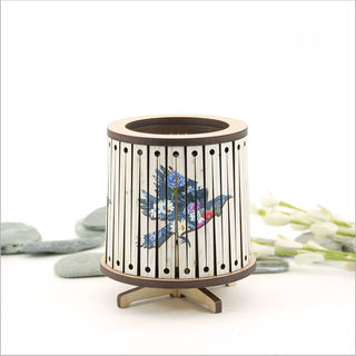 Round LED Tealight Holder: Floral Tui