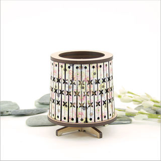 Round LED Tealight Holder: Floral Pacific