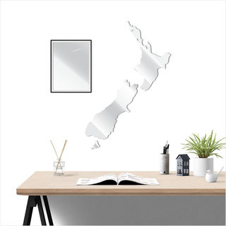 Large NZ: Mirror Acrylic Silver