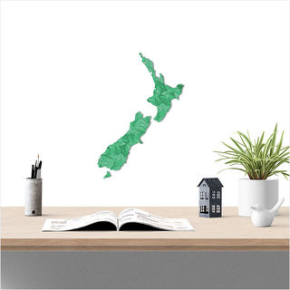 Small NZ: Green Geometric Pattern