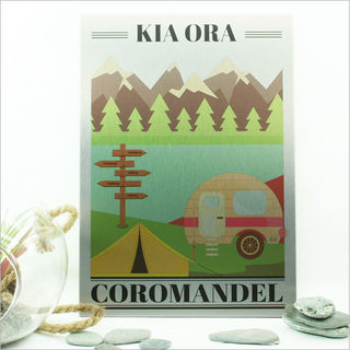 ACM Printed Rectangle Small: Kia Ora Coromandel