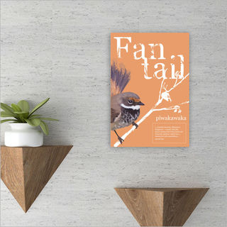 ACM Printed Rectangle Small: Fantail Poster