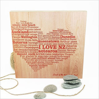 Plywood Art Square: I Love NZ