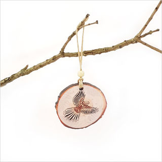 Wood Slice Ornament : KWW Fantail