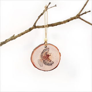 Wood Slice Ornament : KWW Tui