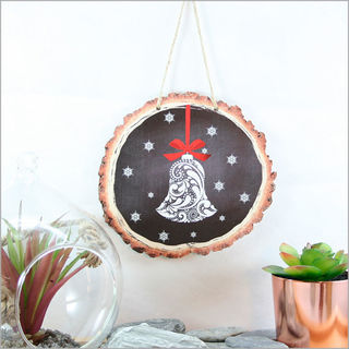 Wood Slice Art: Filigree Bell