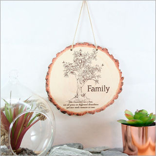 Wood Slice Art: Family Tree