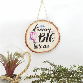 Wood Slice Art: Dream Big