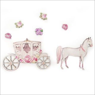 Pine wall art : Horse and Carriage