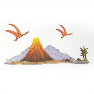 Pine wall art : Volcano set