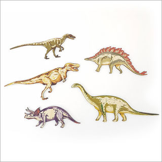 Pine wall art : Dinosaurs Set