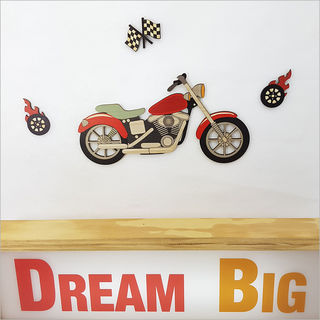 Pine Wall Art: Motor Bike Set
