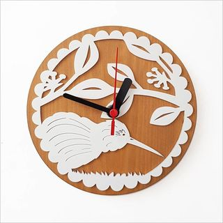 Clock:Kiwi on PHT White + Silver Beech