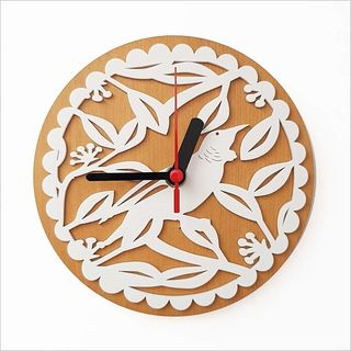 Clock:Tui on PHT White + Silver Beech