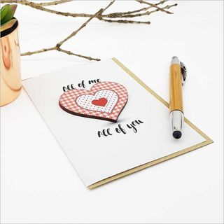 Greeting Card with embellishment: Heart