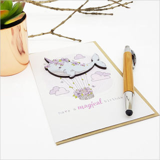 Greeting Card with embellishment: Magical Birthday