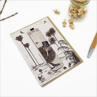 Greeting Card: Vintage Kiwi Bookmark