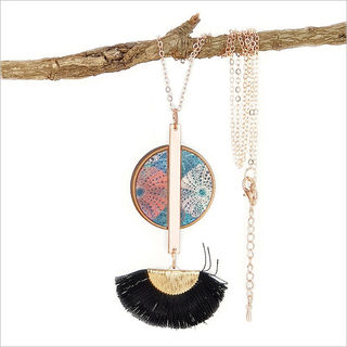 Tassel Necklace: Kina (Printed MOP)