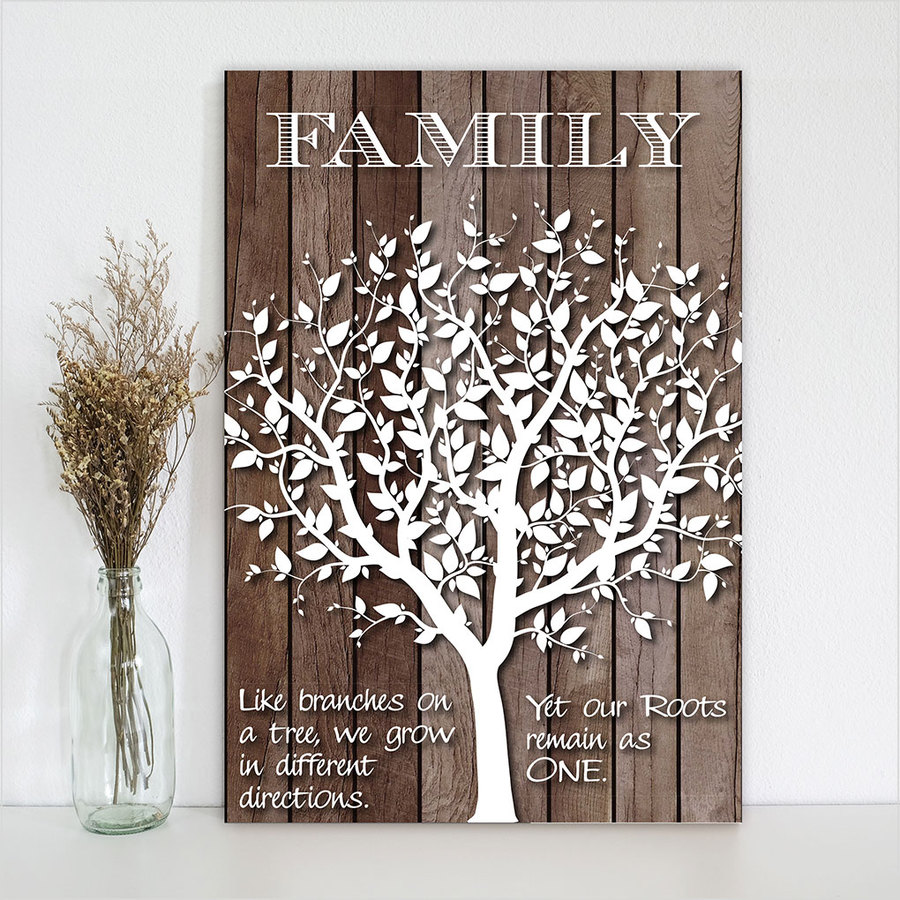 Plywood Rectangle: Family (Large)