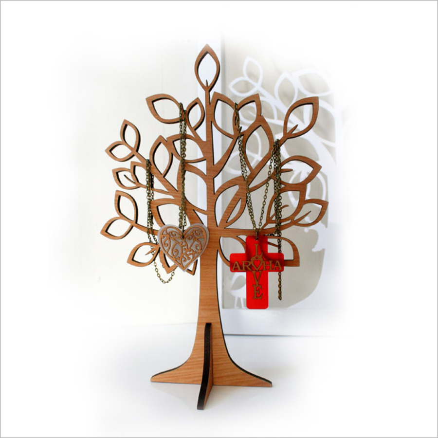 Small Spring Jewellery Tree (Silver Beech)