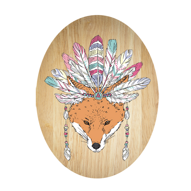 Ply Oval: Tribal Fox
