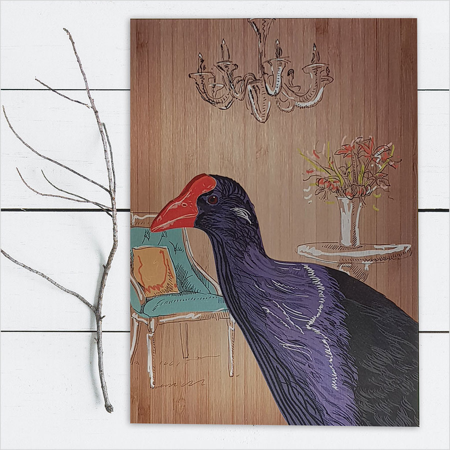 ACM Printed Rectangle : Pukeko Portrait (Large)