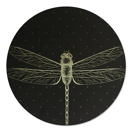 Printed ACM Brushed Circle: Dragonfly