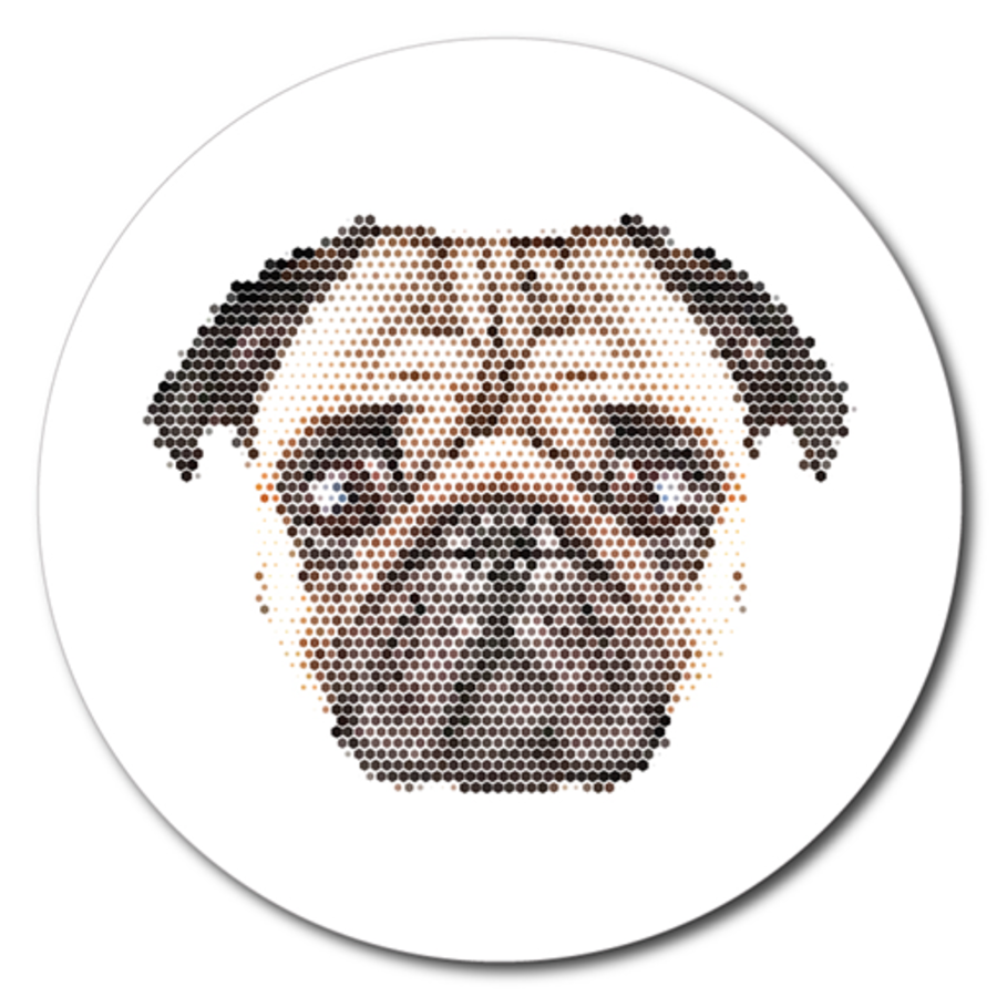 Printed ACM Circle: Pixel Pug