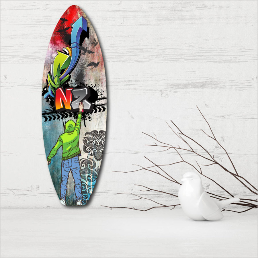 Ply Surfboard Art: Grafiti NZ