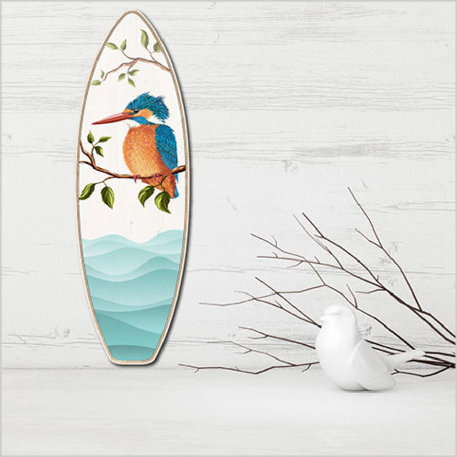 Ply Surfboard Art: Kingfisher