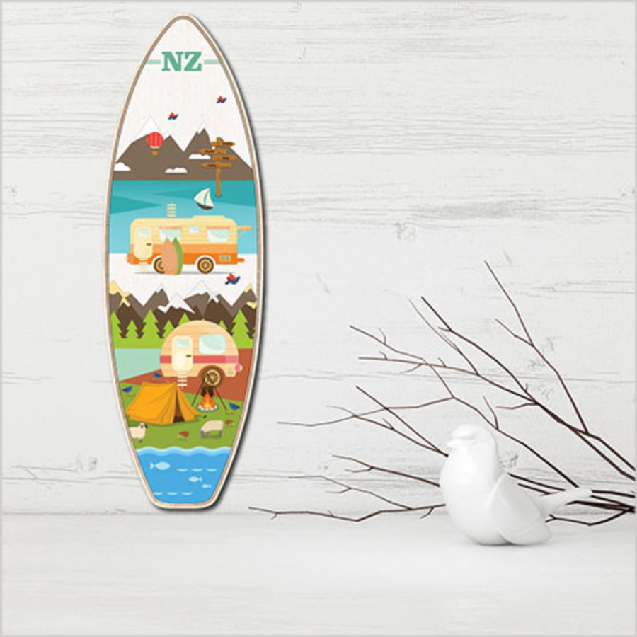 Ply Surfboard Art: Kiwi Holiday