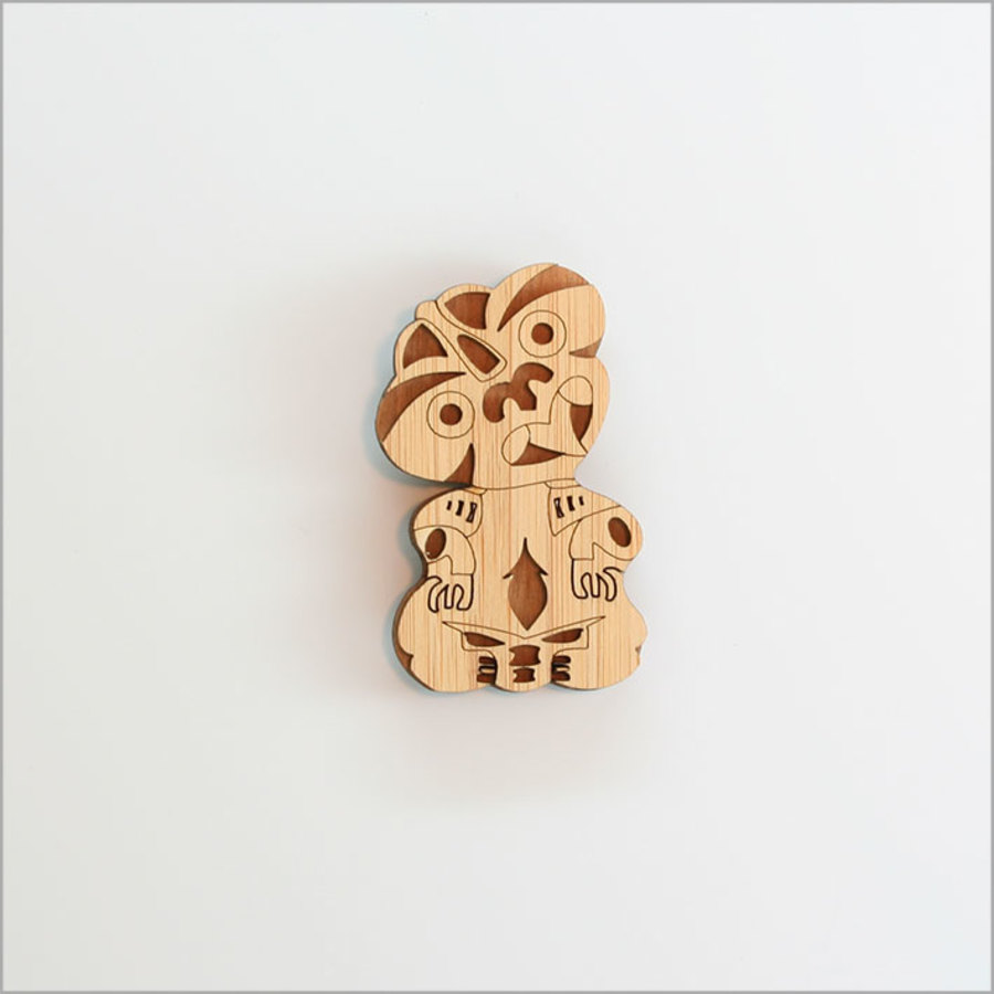 Magnet: Tiki (NZ Beech and Bamboo Veneer)