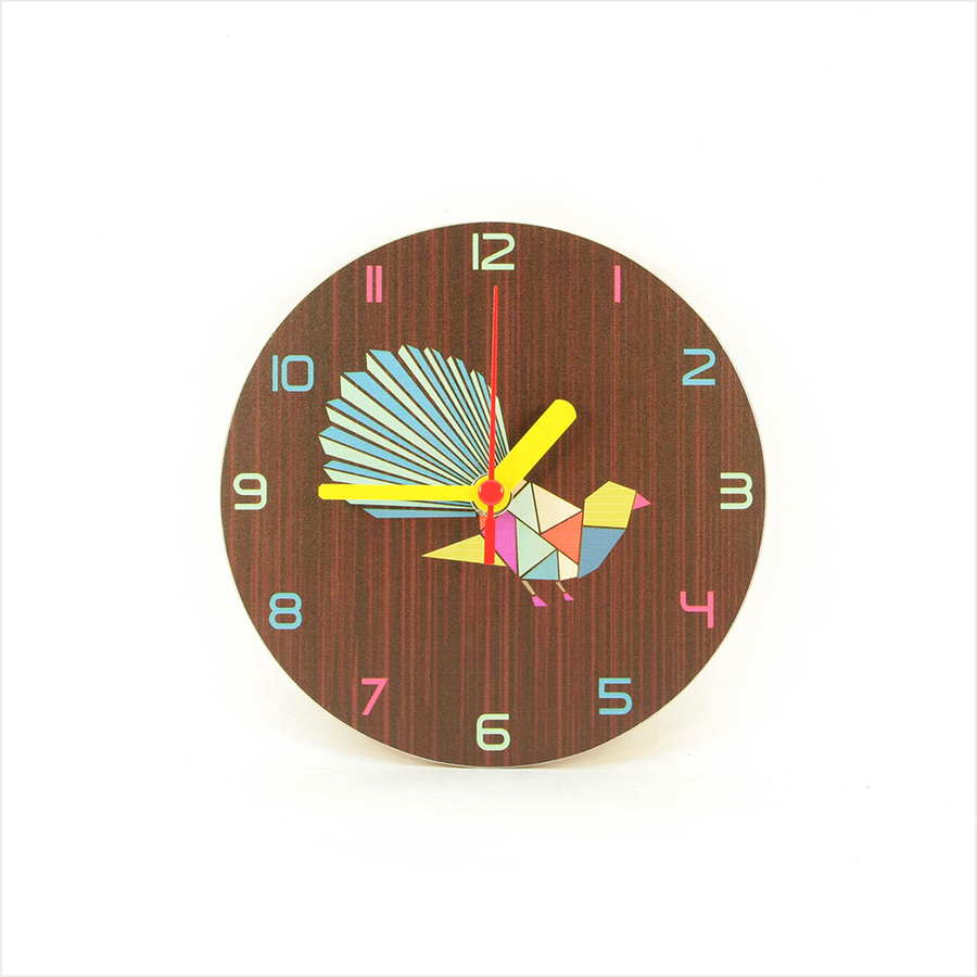 Clock : Fantail Geometric Dark Oak