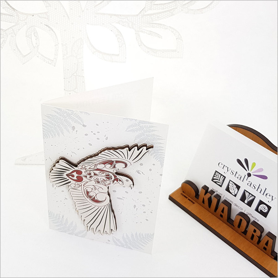 Gift Card with embellishment: KWW Kea