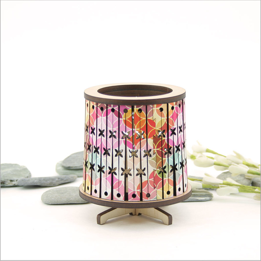 Round LED Tealight Holder: Bright Pacific