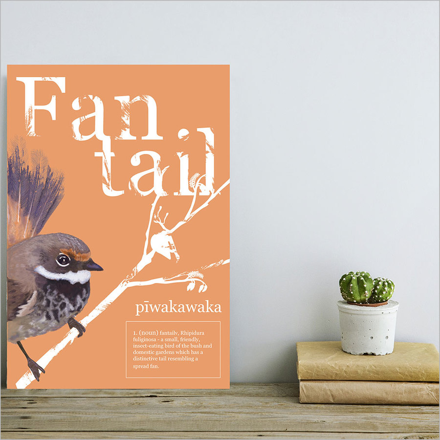 ACM Printed Rectangle Large: Fantail Poster