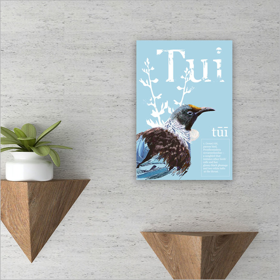 ACM Printed Rectangle Small: Tui Poster