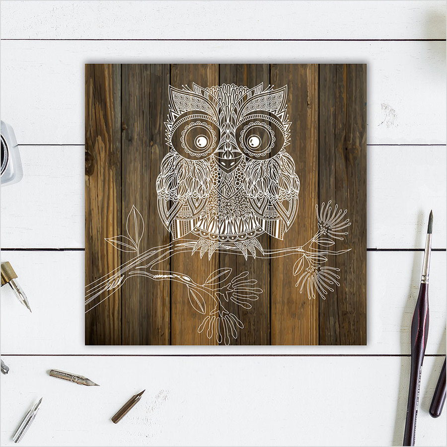 Plywood Art Block: DW Morepork
