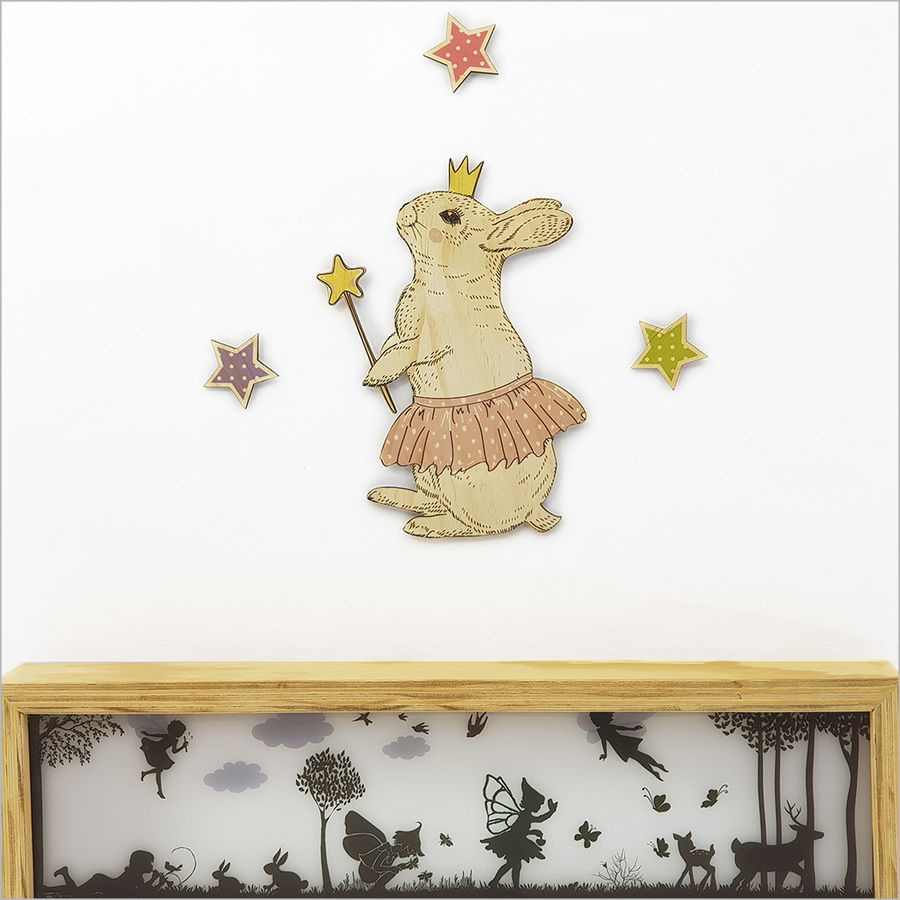 Pine Wall Art : Bunny