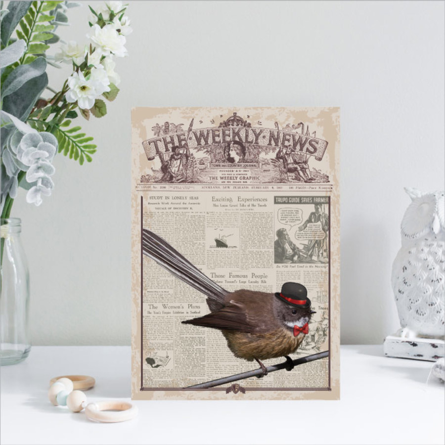 ACM Printed Rectangle Small: Vintage Fantail