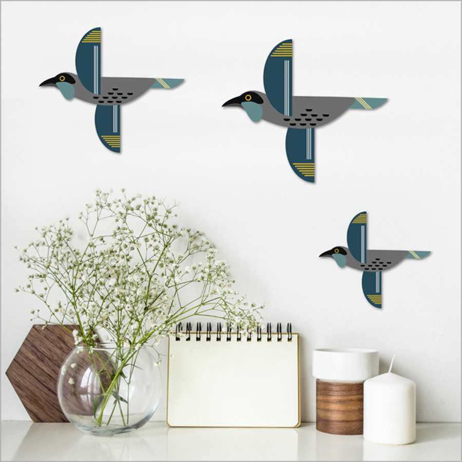 Printed ACM Birds Set: Folk Kokako