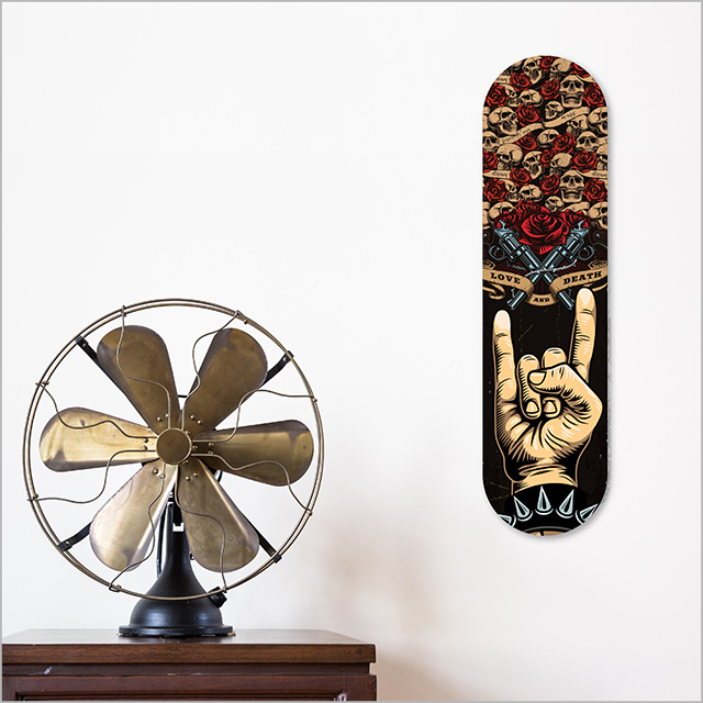 ACM Printed Skateboard Art : Rock n Roll