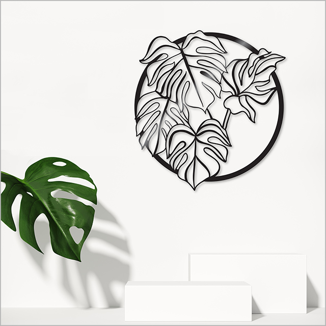 Large ACM Circle: Monstera Deliciosa